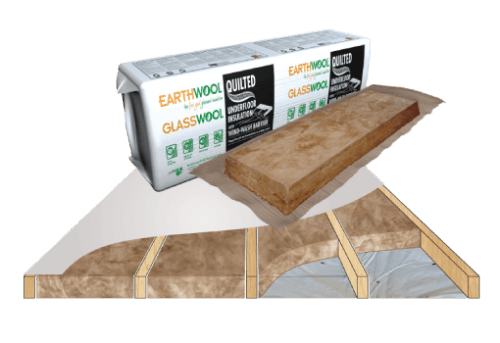 Glasswool - Floor - Earthwool glasswool insulation: Quilted Underfloor batt