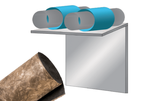 Glasswool - Unfaced Duct Wrap - Climacoustic HVAC/OEM roll