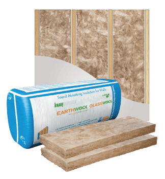 Glasswool - Wall - Earthwool glasswool insulation: Acoustic Wall batt