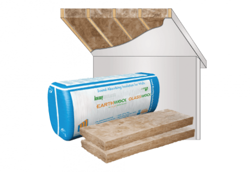 Glasswool - Timber Frame Construction - Earthwool glasswool insulation: Baffle Stack