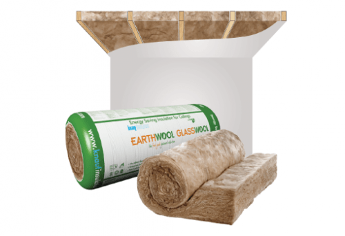 Glasswool - Ceiling - Earthwool glasswool insulation: Ceiling roll