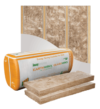 Glasswool - Wall - Earthwool glasswool insulation: External Wall batt