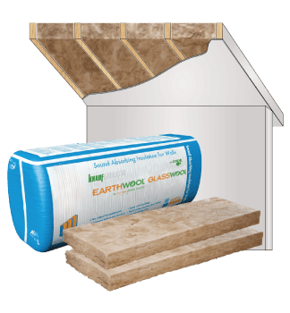 Glasswool - Timber Frame Construction - Earthwool glasswool insulation: Baffle Stack Construction